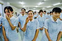 Mizusawa Gakuen School of Nursing: nursing students