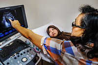 Ultrasound scan for pregnant woman at Berakas Health Centre