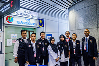Health Quarantine Center team at Kuala Lumpur International Airport (KLIA)