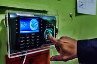 Fingerprint sensor integrated into the door of the Health Quarantine Center at Kuala Lumpur International Airport (KLIA)