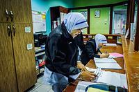Reception desk, Health Quarantine Center at Kuala Lumpur International Airport (KLIA)