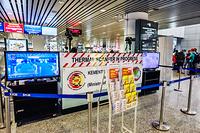 Health Quarantine Center: Temperature screening at arrivals in Kuala Lumpur International Airport (KLIA)