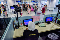Health Quarantine Center: Temperature screening at arrivals in Kuala Lumpur International Airport (KLIA)
