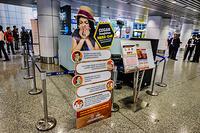 Health Quarantine Center: health screening desk at Kuala Lumpur International Airport (KLIA)