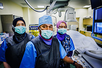 Health workers at National Cancer Institute