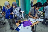 Health workers at Hospital Kuala Lumpur,Malaysia. CAPTION UNDER PROCESS