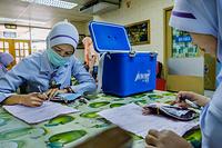 The blood transfusion unit at Hospital Kuala Lumpur, Malaysia. CAPTION UNDER PROCESS