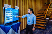 Day 1: Interactive exhibit showcasing the 2016 catalogue of publications of the Regional Office for the Western Pacific during the 67th session of the World Health Organization Regional Committee for the Western Pacific, at the Regional Office in Manila, Philippines, 10 to 14 October 2016