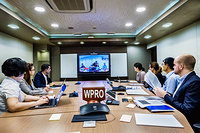 Video conference at the WHO Regional Office for the Western Pacific.