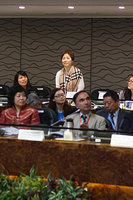 Representatives of WHO Collaborating Centres acknowledged during the plenary session during the First Regional Forum of WHO Collaborating Centres in the Western Pacific, at the Regional Office for the Western Pacific, Manila, Day 1, 13-14 November 2014.