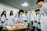 A class on child cardio pulmonary resuscitation (CPR) at Seoul National University College of Medicine