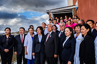 Dr Shin Young-Soo, WHO Regional Director for the Western Pacific visits a local clinic in Ulaanbaatar. Note: Title of WHO staff reflects their respective position at the time the photo was taken.