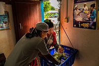A scheduled vaccination session at a local clinic in Siem Reap