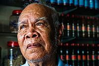 Portrait of traditional medicine practitioner in Phnom Penh