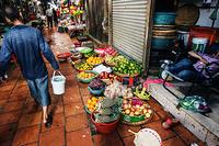 Food market  on the street