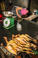 Poultry at the food market in Phnom Penh
