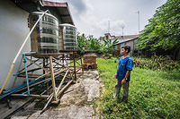 Water tanks at Pery Khmer Health Centre in Kampong Chhnang province, Cambodia - 10/2015.