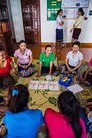 Sex workers counselling at a drop in center in Vientiane
