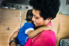 Mother and child at the Nausori Maternity Hospital