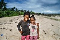 Brother and sister in South Tawara, Kiribati.