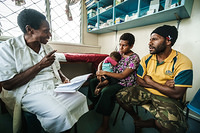 Health worker  provide counselling on contraceptive method to a family, Goroka General Hospital