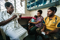 Health worker  provide counselling on contraceptive method to a family at Goroka General Hospital